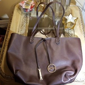 BCBG leather tote handbag